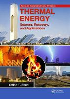 Thermal Energy: Sources, Recovery, ...
