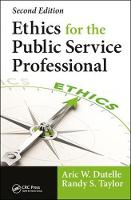 Ethics for the Public Service...