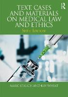 Text, Cases and Materials on Medical...