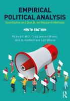 Empirical Political Analysis: An...