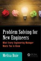 Problem Solving for New Engineers:...