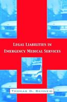 Legal Liabilities in Emergency ...