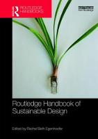 Routledge Handbook of Sustainable Design