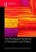 The Routledge Handbook of Translation...