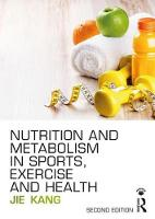 Nutrition and Metabolism in Sports,...