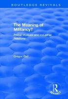 The Meaning of Militancy?: Postal...