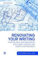 Renovating Your Writing: Shaping ...