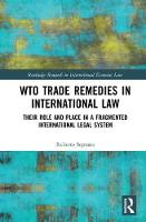 WTO Trade Remedies in International...
