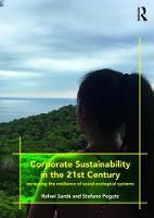 Corporate Sustainability in the 21st...