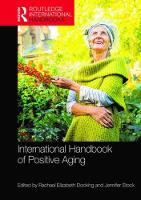 International Handbook of Positive Aging