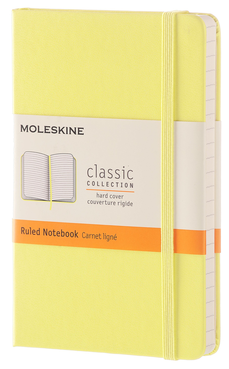Citron Yellow Hard Pocket Ruled Notebook