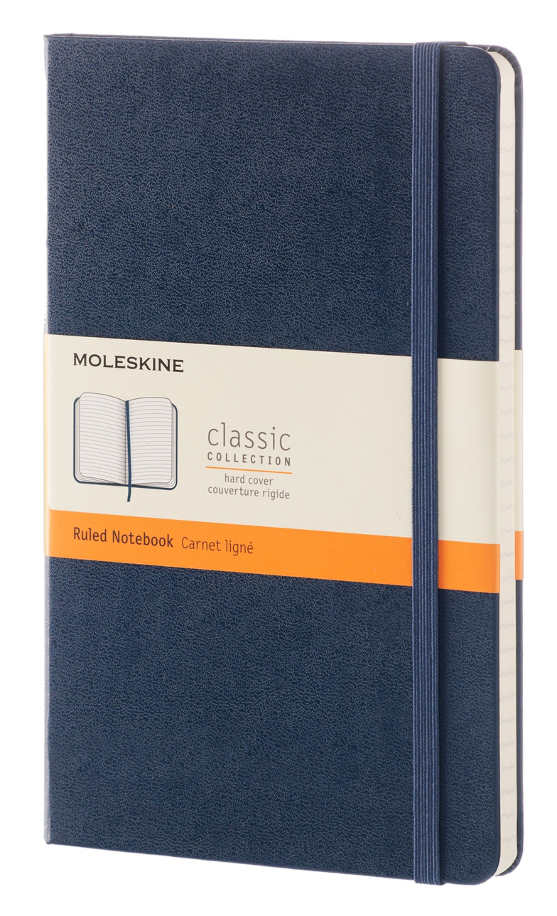 Sapphire Blue Large Ruled Hard Notebook