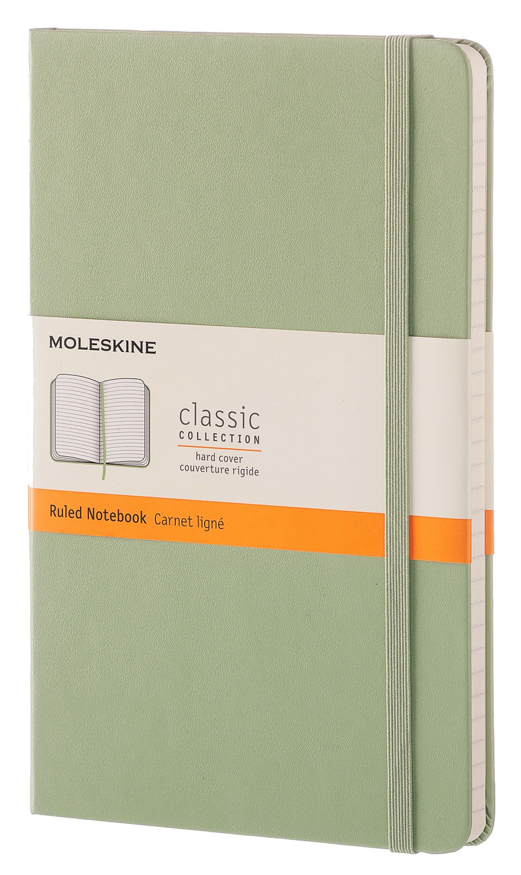 Willow Green Large Ruled Hard Notebook