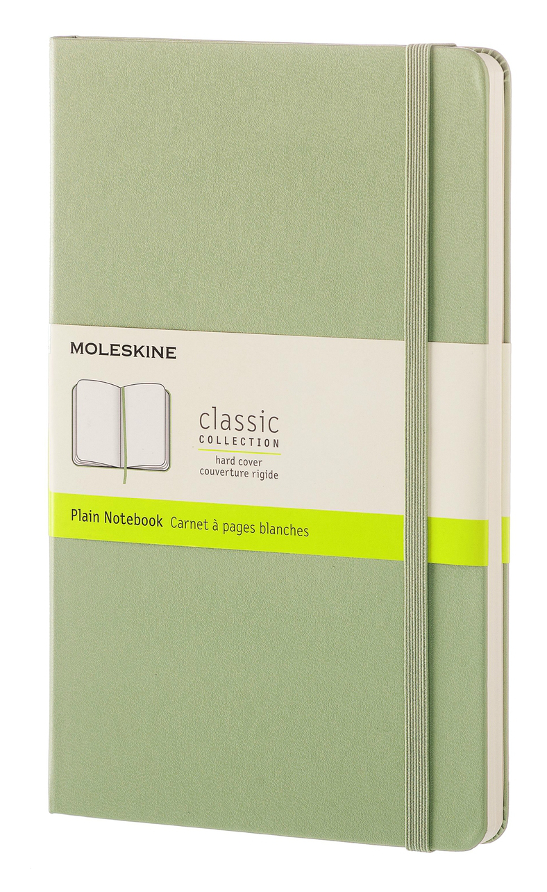 Willow Green Large Plain Hard Notebook