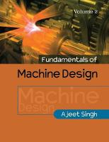 Fundamentals of Machine Design: Volume 2