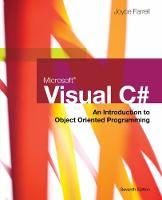 Microsoft Visual C#: An Introduction...