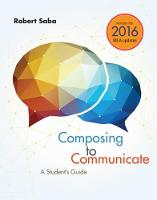 Composing to Communicate: A Student's...
