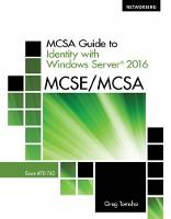 MCSA Guide to Identity with Windows...