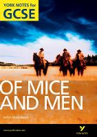 Of Mice and Men: York Notes for GCSE:...