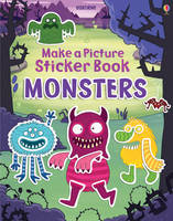Make a Picture Sticker Book Monsters