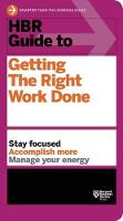 HBR Guide to Getting the Right Work...