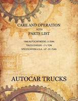 Care and Operation with Parts List...