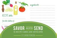 Savor and Send: 12 Recipe Cards and...