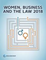 Women, Business and the Law 2018:...