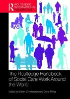 The Routledge Handbook of Social Care...