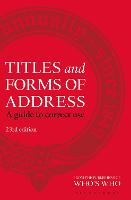 Titles and Forms of Address: A Guide...
