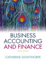 Business Accounting & Finance