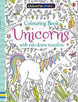 Colouring Book Unicorns with Rub-Down...