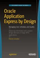 Oracle Application Express by Design:...