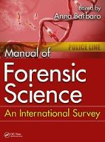 Manual of Forensic Science: An...