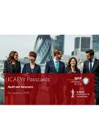 ICAEW Audit and Assurance: Passcards