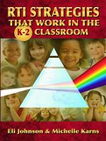 RTI Strategies That Work in the K-2...