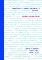 Foundations of Applied Mathematics,...