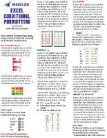 Excel Conditional Formatting Tip Card