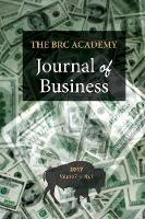 The Brc Academy Journal of Business:...