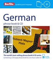 Berlitz German phrase book & CD