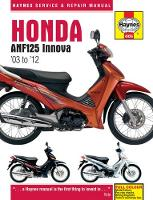 Honda ANF125 Innova Service and ...