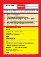 VHF DSC Mayday Procedure Card