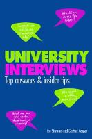 University Interviews: Top answers &...