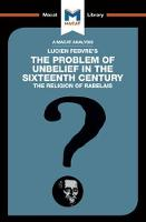 The Problem of Unbelief in the 16th...
