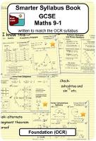 Smarter Syllabus Book - GCSE Maths ...