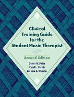 Clinical Training Guide for the...