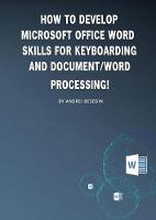 How to Develop Microsoft Office Word...