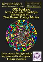OCR Poetry: Love and Relationships ...