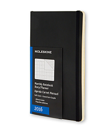 2016 Monthly Black Pocket Soft 12...