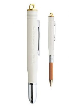 Brass Ballpoint Pen White
